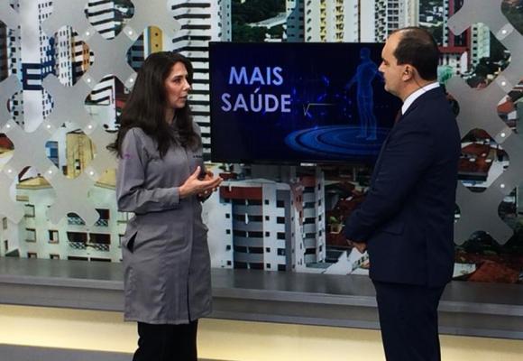 """Dra. Erika C. Pinho no quadro """"Mais Saúde"""" do Balanço Geral"""